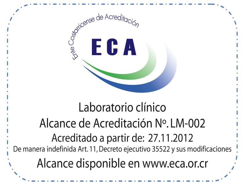 Certificado de Acreditación del Laboratorio Clínico - No LM-002